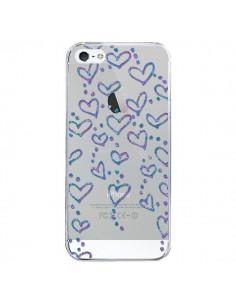 Coque Floating hearts coeurs flottants Transparente pour iPhone 5/5S et SE - Sylvia Cook