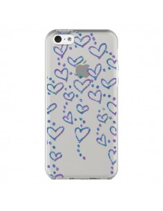 Coque Floating hearts coeurs flottants Transparente pour iPhone 5C - Sylvia Cook