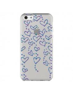Coque iPhone 5C Floating hearts coeurs flottants Transparente - Sylvia Cook
