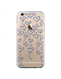 Coque iPhone 6 et 6S Floating hearts coeurs flottants Transparente - Sylvia Cook