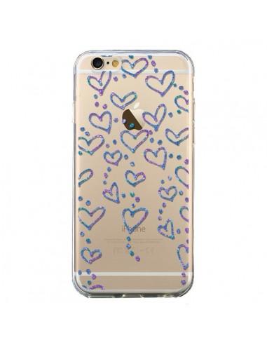 Coque Floating hearts coeurs flottants Transparente pour iPhone 6 et 6S - Sylvia Cook