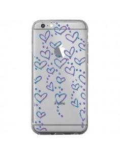 Coque Floating hearts coeurs flottants Transparente pour iPhone 6 Plus et 6S Plus - Sylvia Cook