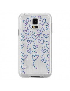 Coque Floating hearts coeurs flottants Transparente pour Samsung Galaxy S5 - Sylvia Cook