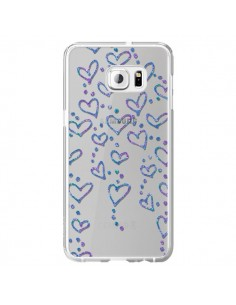 Coque Floating hearts coeurs flottants Transparente pour Samsung Galaxy S6 Edge Plus - Sylvia Cook