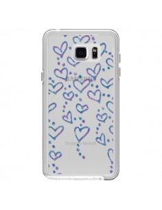Coque Floating hearts coeurs flottants Transparente pour Samsung Galaxy Note 5 - Sylvia Cook