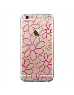 Coque iPhone 6 et 6S Flower Garden Pink Fleur Transparente - Sylvia Cook
