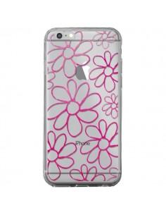 Coque iPhone 6 Plus et 6S Plus Flower Garden Pink Fleur Transparente - Sylvia Cook
