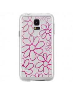 Coque Flower Garden Pink Fleur Transparente pour Samsung Galaxy S5 - Sylvia Cook