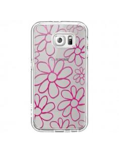 Coque Flower Garden Pink Fleur Transparente pour Samsung Galaxy S6 - Sylvia Cook
