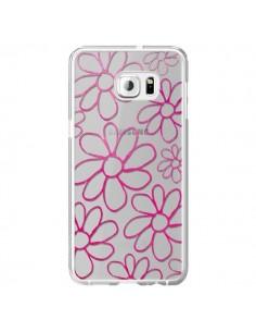 Coque Flower Garden Pink Fleur Transparente pour Samsung Galaxy S6 Edge Plus - Sylvia Cook