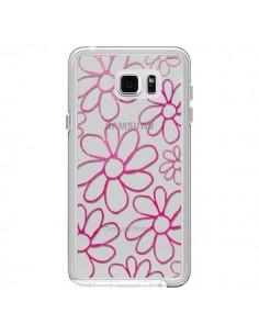 Coque Flower Garden Pink Fleur Transparente pour Samsung Galaxy Note 5 - Sylvia Cook