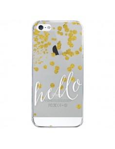 Coque iPhone 5/5S et SE Hello, Bonjour Transparente - Sylvia Cook