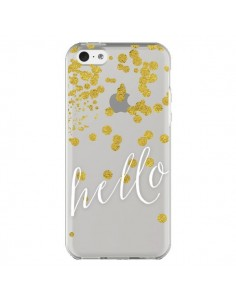 Coque Hello, Bonjour Transparente pour iPhone 5C - Sylvia Cook