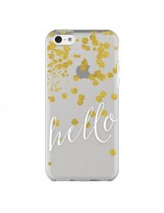 Coque iPhone 5C Hello, Bonjour Transparente - Sylvia Cook