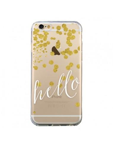 Coque Hello, Bonjour Transparente pour iPhone 6 et 6S - Sylvia Cook