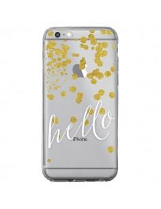 Coque iPhone 6 Plus et 6S Plus Hello, Bonjour Transparente - Sylvia Cook