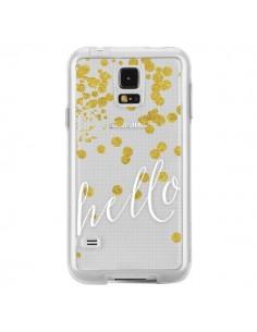 Coque Hello, Bonjour Transparente pour Samsung Galaxy S5 - Sylvia Cook