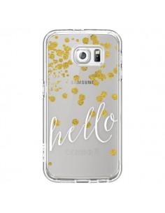 Coque Hello, Bonjour Transparente pour Samsung Galaxy S6 - Sylvia Cook