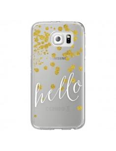 Coque Hello, Bonjour Transparente pour Samsung Galaxy S6 Edge - Sylvia Cook