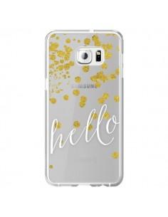 Coque Hello, Bonjour Transparente pour Samsung Galaxy S6 Edge Plus - Sylvia Cook