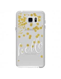Coque Hello, Bonjour Transparente pour Samsung Galaxy Note 5 - Sylvia Cook