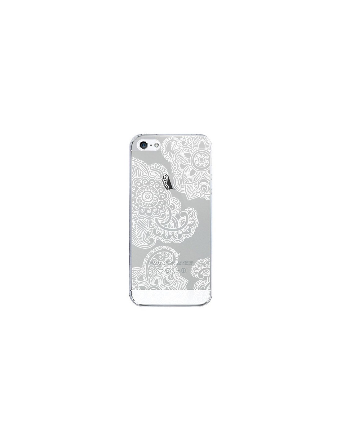 coque lacey paisley mandala blanc fleur transparente pour iphone 5 et 5s sylvia cook. Black Bedroom Furniture Sets. Home Design Ideas