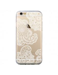 Coque iPhone 6 et 6S Lacey Paisley Mandala Blanc Fleur Transparente - Sylvia Cook