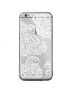 Coque Lacey Paisley Mandala Blanc Fleur Transparente pour iPhone 6 Plus et 6S Plus - Sylvia Cook