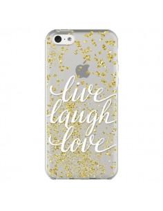 Coque iPhone 5C Live, Laugh, Love, Vie, Ris, Aime Transparente - Sylvia Cook