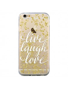 Coque iPhone 6 et 6S Live, Laugh, Love, Vie, Ris, Aime Transparente - Sylvia Cook