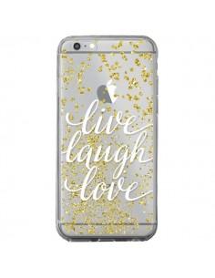 Coque iPhone 6 Plus et 6S Plus Live, Laugh, Love, Vie, Ris, Aime Transparente - Sylvia Cook