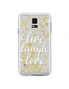 Coque Live, Laugh, Love, Vie, Ris, Aime Transparente pour Samsung Galaxy S5 - Sylvia Cook