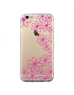 Coque iPhone 6 et 6S Pink Flowers Fleurs Roses Transparente - Sylvia Cook
