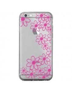 Coque iPhone 6 Plus et 6S Plus Pink Flowers Fleurs Roses Transparente - Sylvia Cook