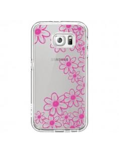 Coque Pink Flowers Fleurs Roses Transparente pour Samsung Galaxy S6 - Sylvia Cook