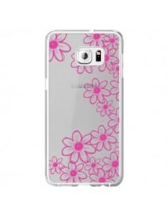 Coque Pink Flowers Fleurs Roses Transparente pour Samsung Galaxy S6 Edge Plus - Sylvia Cook