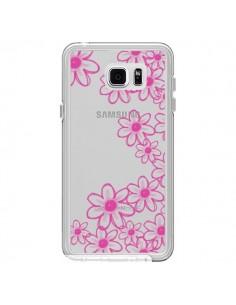 Coque Pink Flowers Fleurs Roses Transparente pour Samsung Galaxy Note 5 - Sylvia Cook