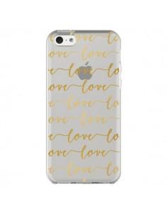 Coque iPhone 5C Love Amour Repeating Transparente - Sylvia Cook