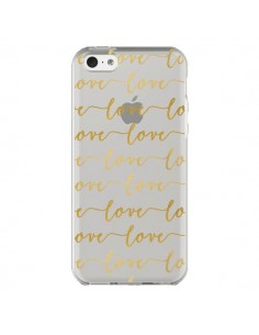 Coque Love Amour Repeating Transparente pour iPhone 5C - Sylvia Cook