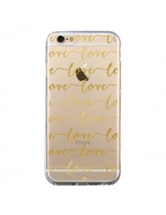 Coque Love Amour Repeating Transparente pour iPhone 6 et 6S - Sylvia Cook