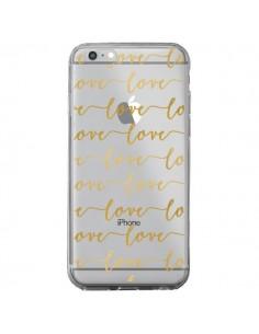 Coque iPhone 6 Plus et 6S Plus Love Amour Repeating Transparente - Sylvia Cook