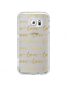 Coque Love Amour Repeating Transparente pour Samsung Galaxy S6 - Sylvia Cook