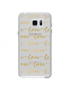 Coque Love Amour Repeating Transparente pour Samsung Galaxy Note 5 - Sylvia Cook