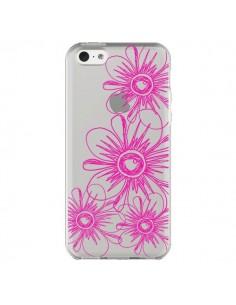 Coque Spring Flower Fleurs Roses Transparente pour iPhone 5C - Sylvia Cook