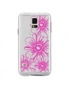 Coque Spring Flower Fleurs Roses Transparente pour Samsung Galaxy S5 - Sylvia Cook
