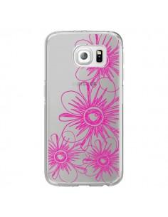 Coque Spring Flower Fleurs Roses Transparente pour Samsung Galaxy S6 Edge - Sylvia Cook