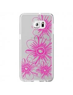 Coque Spring Flower Fleurs Roses Transparente pour Samsung Galaxy S6 Edge Plus - Sylvia Cook