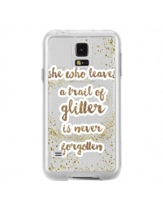 Coque Style Pailleté Transparente pour Samsung Galaxy S5 - Sylvia Cook