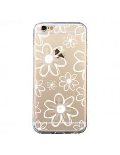 Coque iPhone 6 et 6S Mandala Blanc White Flower Transparente - Sylvia Cook