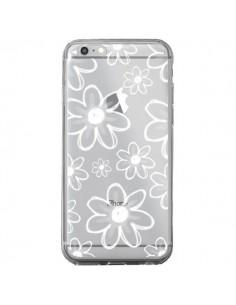 Coque iPhone 6 Plus et 6S Plus Mandala Blanc White Flower Transparente - Sylvia Cook